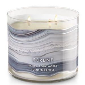 🕯BATH & BODY WORKS 3 WICK CANDLE SERENE SCENT NEW